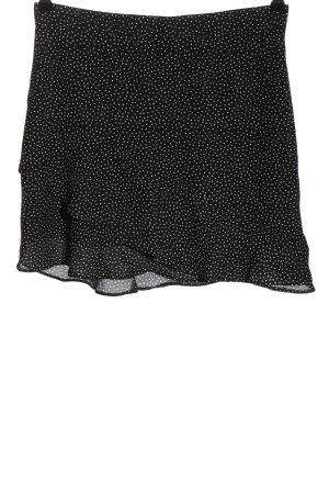 Renuar Volanten rok zwart-wit gestippeld patroon casual uitstraling