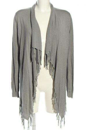 Repeat Cardigan hellgrau meliert Casual-Look