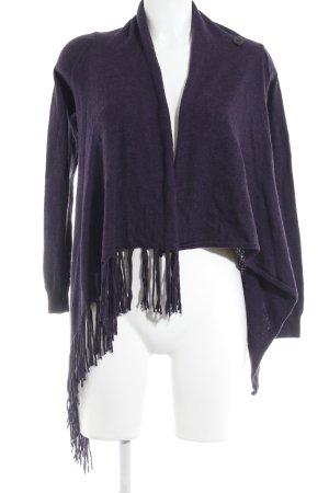 Repeat Cardigan dunkelviolett schlichter Stil