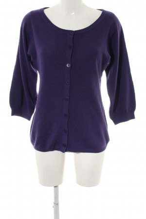 Repeat Cashmere Cardigan lila Casual-Look