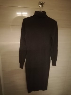 Repeat Cashmere Knitted Dress grey brown