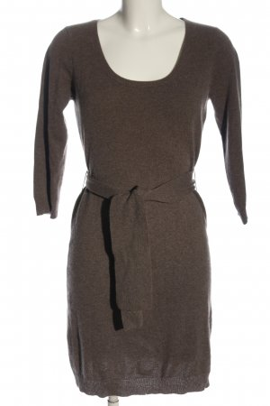 Repeat Cashmere Sweaterjurk bruin gestippeld casual uitstraling