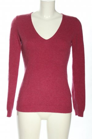 Repeat Cashmere Wollpullover pink meliert Casual-Look