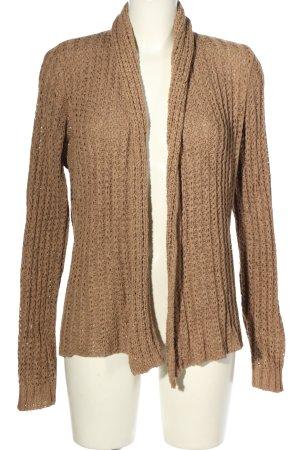 Repeat Szydełkowany sweter brązowy Warkoczowy wzór W stylu casual