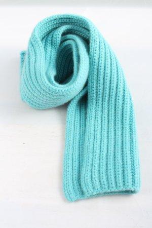 Repeat Gehaakte sjaal turkoois kabel steek casual uitstraling