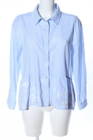 Repeat Hemd-Bluse blau-weiß Blumenmuster Business-Look