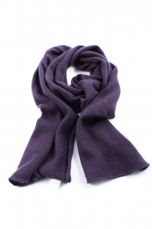 Repeat Cashmere Scarf lilac flecked casual look