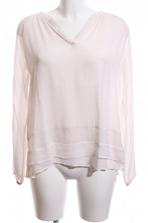 Repeat Langarm-Bluse creme Casual-Look