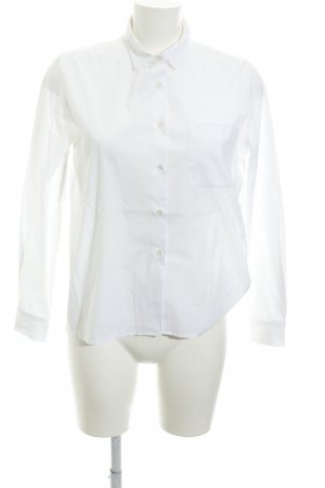 Repeat Langarmhemd wollweiß schlichter Stil