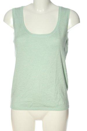 Repeat Gilet long tricoté turquoise style décontracté