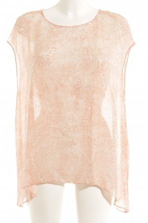 Repeat Oversized Bluse lachs-weiß Blumenmuster