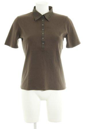 Repeat Polo shirt khaki casual uitstraling