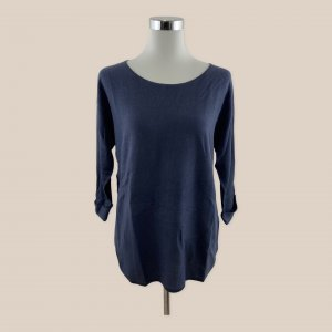 REPEAT Pullover Strickjacke Gr. 38 M dunkeblau easy knit