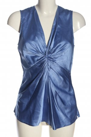 Repeat Blouse en soie bleu style décontracté