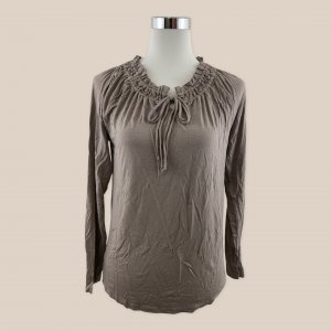 REPEAT Shirt Bluse Tunika schlamm taupe Gr. 38 M