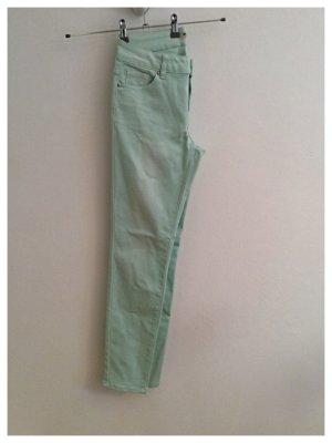 REPEAT, Straight–Cut Jeans, Mintfarben