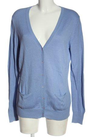 Repeat Cardigan in maglia blu stile casual