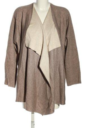 Repeat Cardigan in maglia marrone-bianco sporco puntinato stile casual