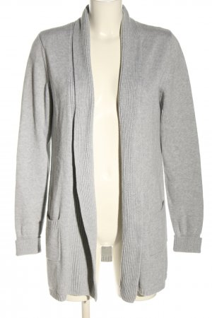 Repeat Cardigan in maglia grigio chiaro punto treccia stile casual