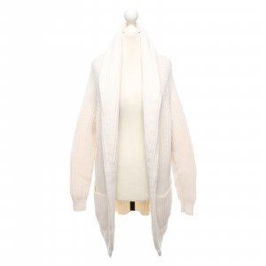 Repeat Coarse Knitted Jacket natural white-cream wool