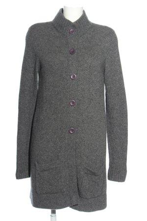 Repeat Cappotto a maglia grigio chiaro puntinato stile casual