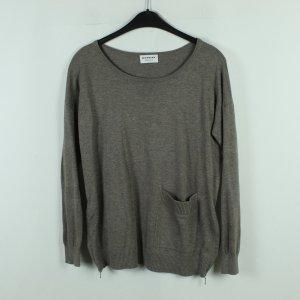 Repeat Maglione lavorato a maglia marrone-grigio-marrone