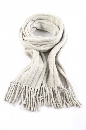 Repeat Écharpe en tricot gris clair torsades style décontracté