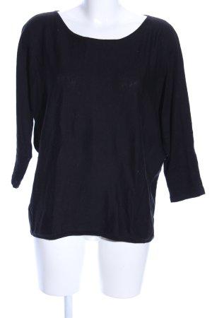 Repeat Gebreid shirt zwart casual uitstraling
