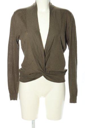 Repeat V-Ausschnitt-Pullover braun Casual-Look