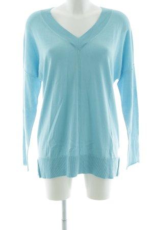 Repeat V-Ausschnitt-Pullover blau Casual-Look
