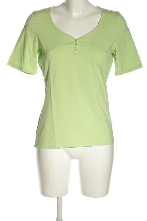 Repeat Maglia con scollo a V verde stile casual