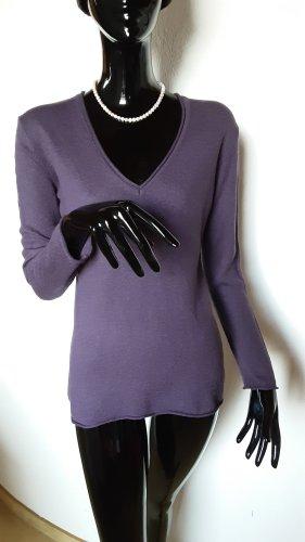 Repeat T-shirt col en V bleu violet