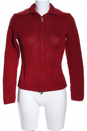 Repeat Wolljacke rot Zopfmuster Casual-Look