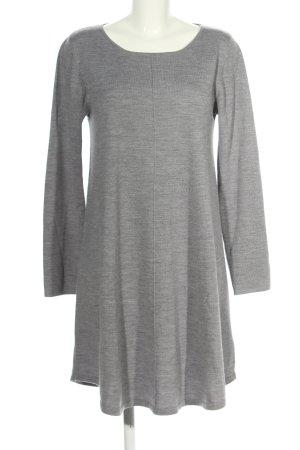 Repeat Robe en laine gris clair moucheté style décontracté