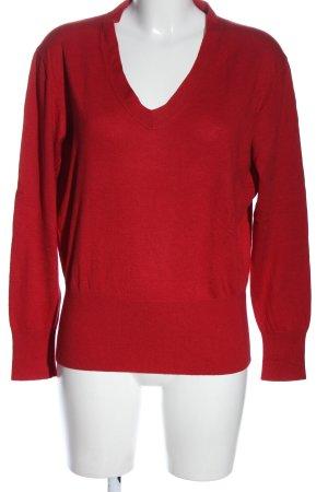 Repeat Maglione di lana rosso stile casual