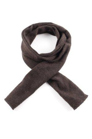 Repeat Woolen Scarf dark brown casual look