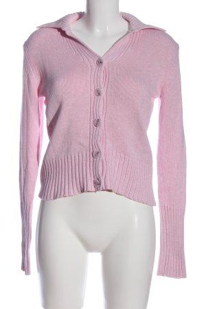 Repeat Warkoczowy sweter różowy W stylu casual