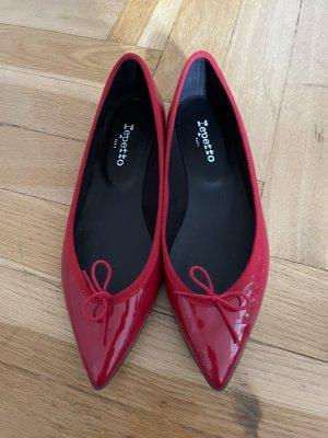 Repetto Ballerines en cuir verni rouge