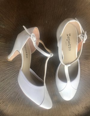 Repetto T-Strap Pumps white leather
