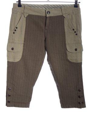 Replay Pantalón pirata marrón-gris claro estampado a rayas look casual
