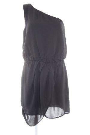 Replay Abendkleid schwarz Glanz-Optik