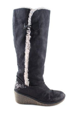 Replay Absatz Stiefel schwarz-weiß Casual-Look