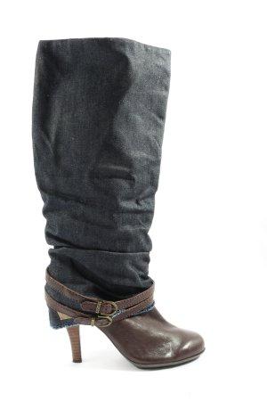 Replay Absatz Stiefel braun-schwarz Casual-Look