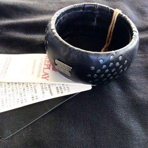 Replay Bangle czarny-srebrny Skóra