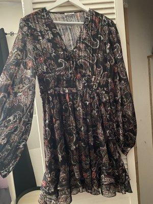 Replay Sukienka z falbanami czarny-czerwony Poliester