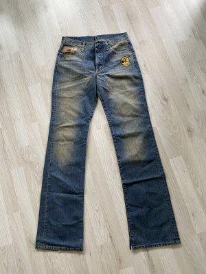 Replay Jeans flare gris ardoise-bleu foncé