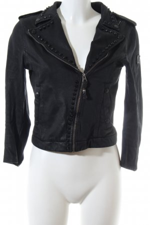 Replay Bikerjacke schwarz Casual-Look