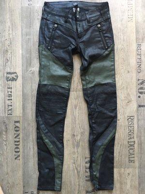 Replay Drainpipe Trousers green grey-black