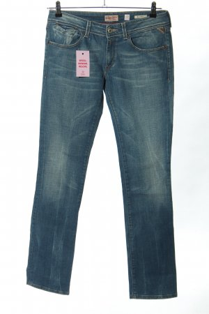 replay blue jeans Vaquero de corte bota azul look casual