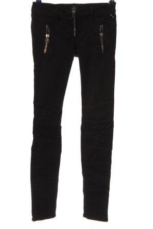 replay blue jeans Hüftjeans schwarz Casual-Look